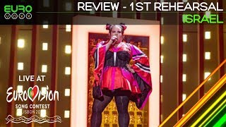 Netta - Toy 1st rehearsal (Review)   Israel Eurovision 2018   Eurovoxx