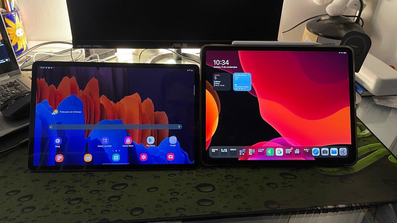 iPad Pro 12,9 vs Samsung Galaxy S7+ - YouTube