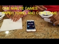 ONE MINUTE GAMES - PAPER TOWEL AND CLIPS