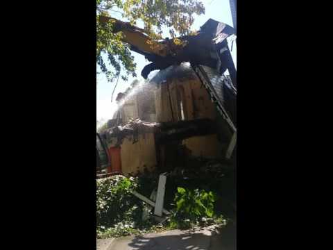 The demolition of 622 North Francis Street Jackson Michigan 49201 on September 7th 2016