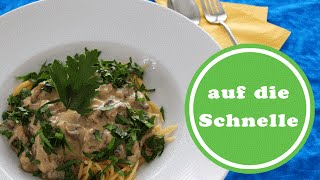 Champignon-Carbonara | Sauce vegetarisch | Weight Watchers | Rezept