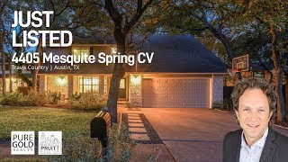 Just Listed | 4405 Mesquite Spring | Austin, TX