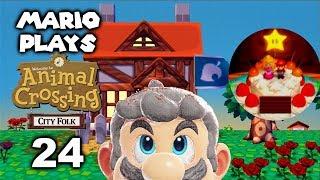 Mario's Birthday - Mario Plays ACCF #24 (Animal Crossing: City Folk)