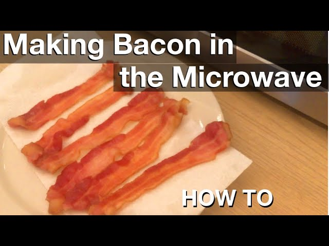 making microwave bacon how to youtube