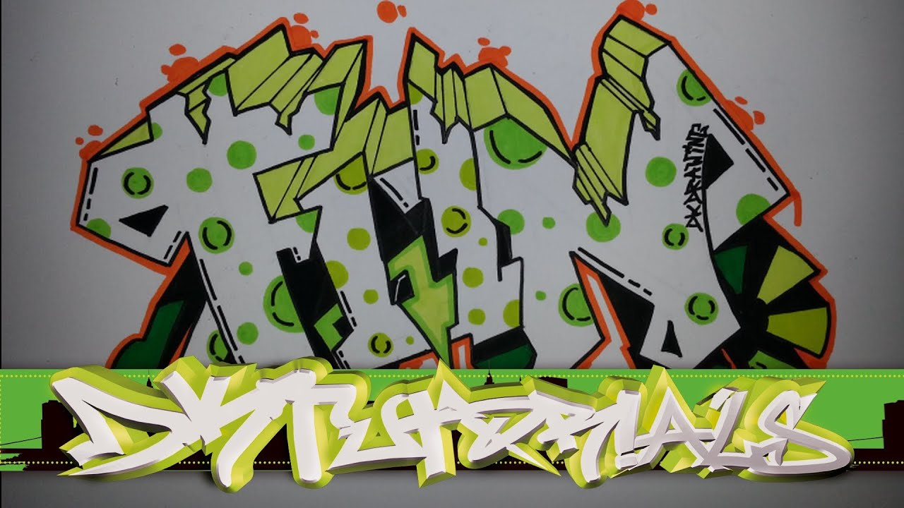 How to draw graffiti letters step by step - Fun - YouTubeStep By Step How To Draw Graffiti Characters
