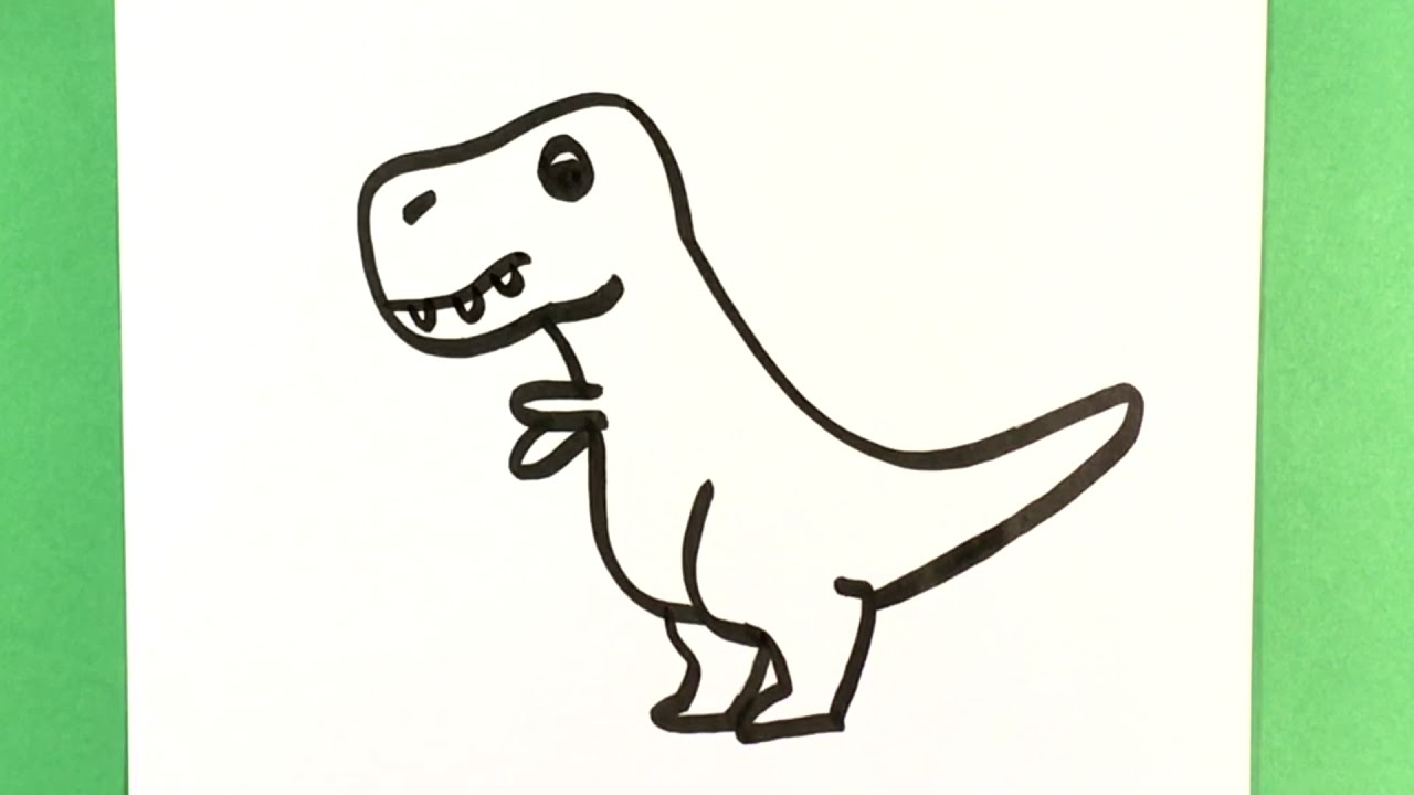 How To Draw Trex Dinosaur Drawings Ute Drawing For Beginners Artist Cute Animals To Draw Fun Amazing Youtube