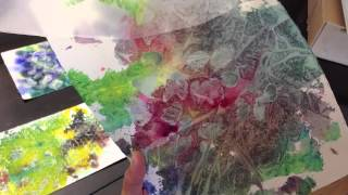 how to: plastic wrap technique with watercolor painting