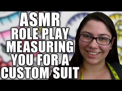 ASMR Suit Measurement Role Play, Taking Body Measurements for Custom Suit