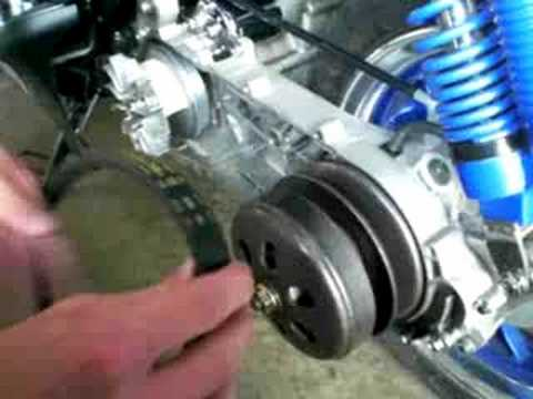 How To Change Moped Scooter Drive Belt Cvt Youtube