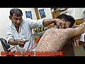 Hair and neck cracking | body scrub and cleaning | Asim barber with SWAG | Indian ASMR