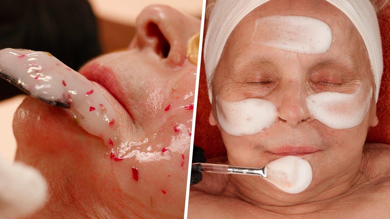 GRANDMA GETS RELAXING SKINCARE FACIAL! Anti-Aging Skincare Treatment