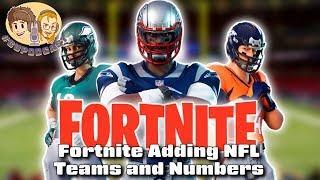 Fortnite Adding NFL Team Uniform Skins - #CUPodcast