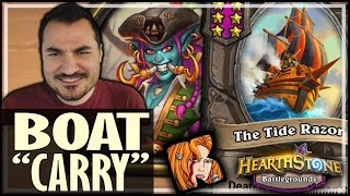 THE BOAT DID ALL THE WORK! - Hearthstone Battlegrounds