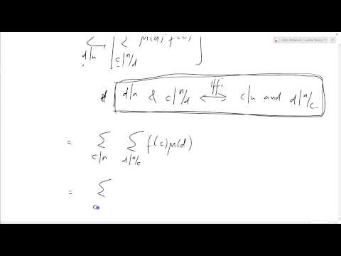 Number Theory 30: Mobius inversion formula