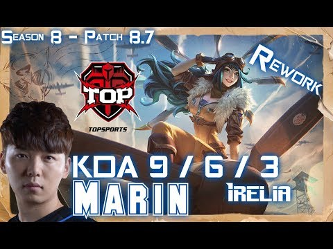 TOP MaRin IRELIA vs NASUS Top - Patch 8.7 KR Ranked