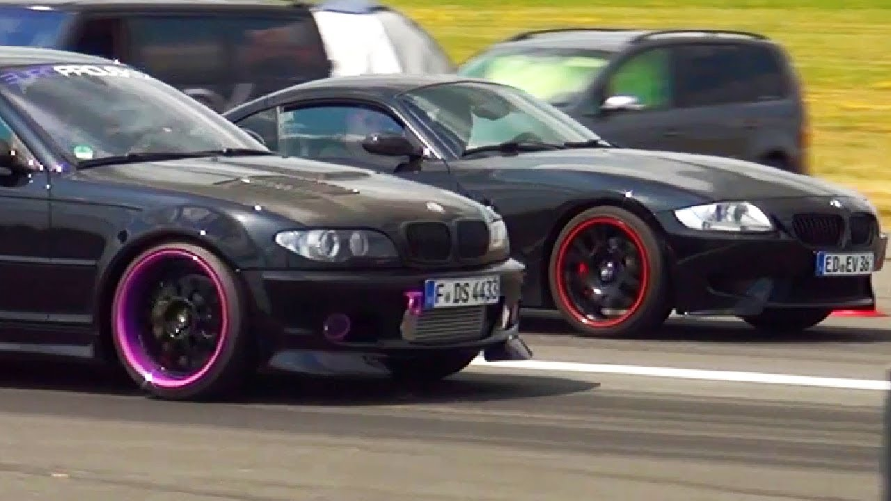 Bmw M3 Kompressor E46 Vs Bmw Z4 M Coupe Drag Race