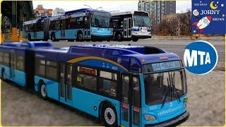 Johny Unboxes NEW Limited Articulated MTA Bus Toy & MTA Bus Ride To Williamsburg