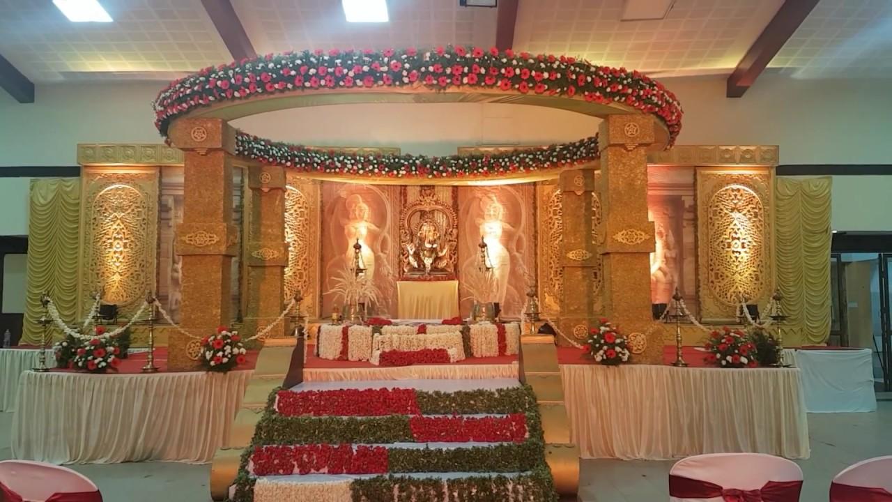 Hindu Wedding Decoration In Trivandrum At Sree Moolam Club