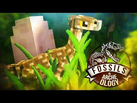 A BABY THERIZINOSAURUS! | Fossils And Archeology (Minecraft Dinosaurs Part 5)
