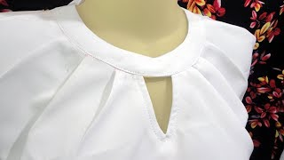 how to sewing a simple blouse model...