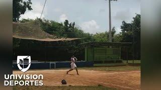 Radamel Falcao se luce en el béisbol y confiesa que le gustaría jugar en Miami