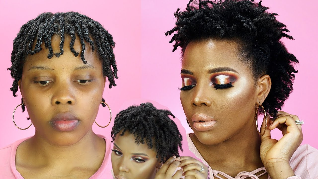 Twist Out On Short Natural Hair Using Cantu Products Everything Natural Hair