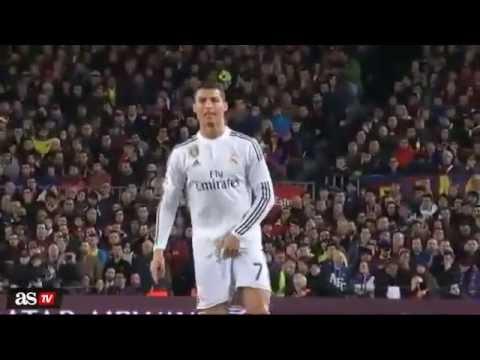 Gestaccio di Cristiano Ronaldo allarbitro Mateu Lahoz Te gusta eh FC Barcelona vs Real
