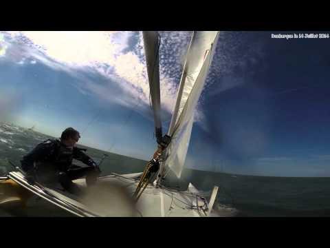 Sortie Catamaran Cirrus F18 à Dunkerque  le 14 Juillet 2014