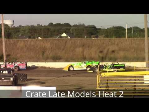 Genesee Speedway Crate Late Model Heat Races 8-6-16