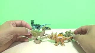 Динозавры.Игрушки динозавры как лего из фильм и мультик Мир Юрского Периода Dinosaurs toys like LEGO