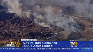 Damaging Rye Fire In Santa Clarita 90 Percent Contained