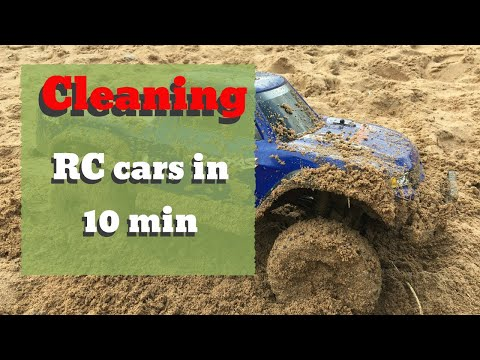 How to clean RC cars in 10 min