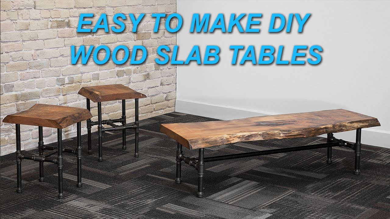 How To Make A Live Edge Wood Slab Coffee Table With Epoxy Inlay. DIY PETE