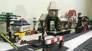 LEGO Winter Village Station, set 10259! Unboxing and Train Layout! Released 2017!