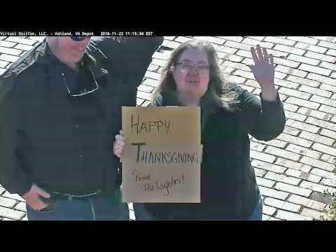Thanksgiving Sign and Wave in Ashland