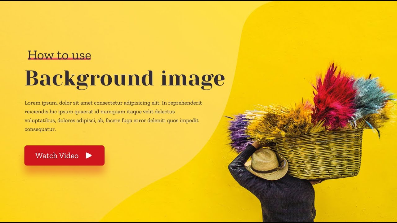 Background image overlay with text, Hero section, Responsive design