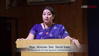 Smriti Irani at Book Launch #UrbanNaxals of Vivek Agnihotri