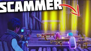 *MUST WATCH* Scammer Gets Scammed For All His Best Stuff! - Fortnite Save The World Scammer Xbox