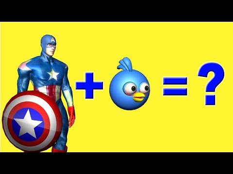 CAPTAIN AMERICA + ANGRY BIRDS : character mashup ♫  short 3D animation  ☺ FunVideoTV - Style ;-))