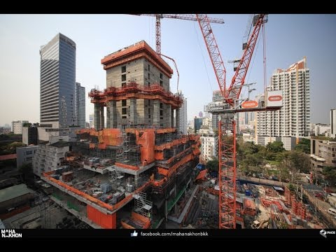 MahaNakhon - Thailand's Tallest Building - 18 Months of Construction: 2012 to 2014