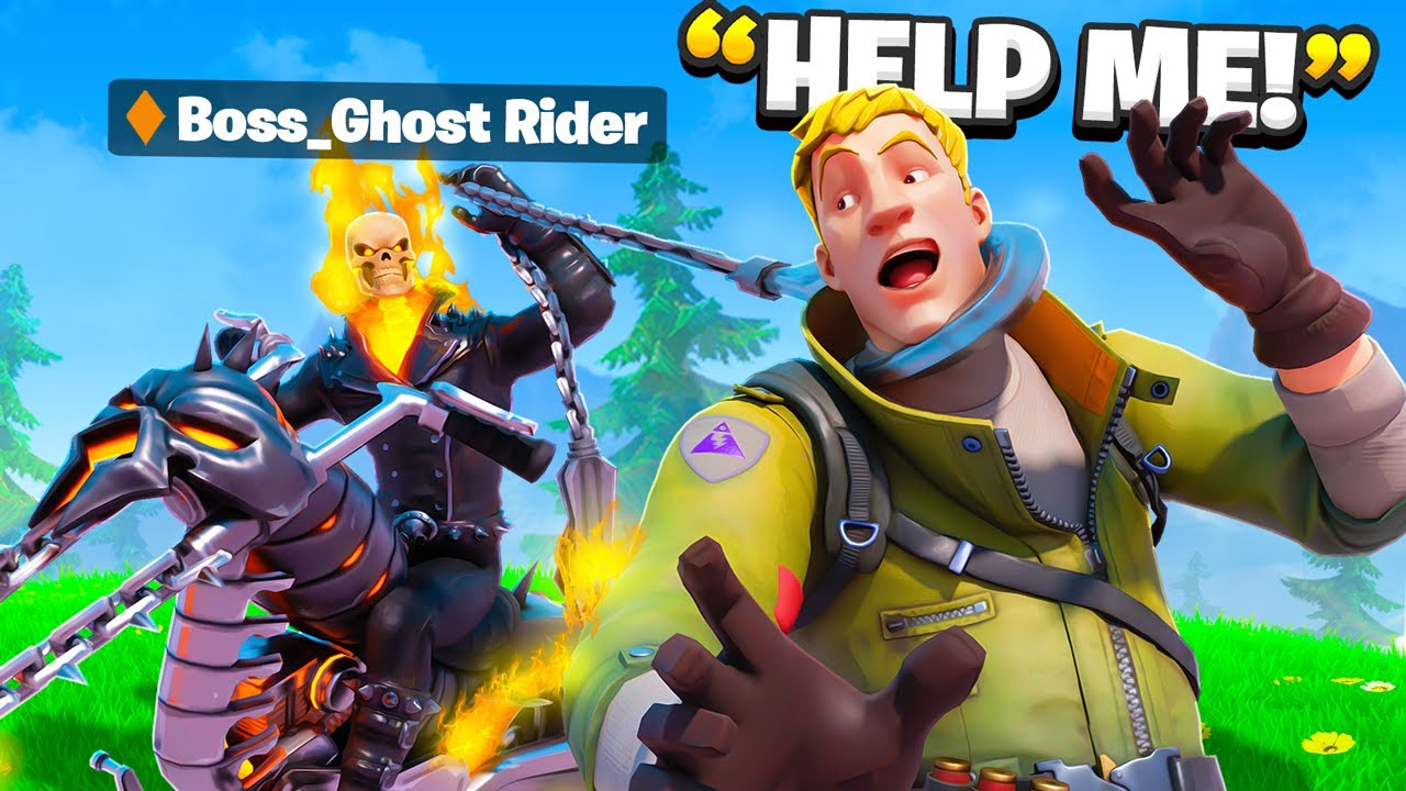 I Pretended To Be BOSS Ghost Rider.. (Fortnite)