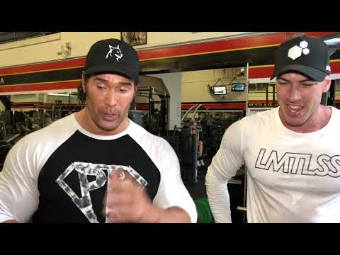 Mike Titan O'Hearn killing legs with Chris William at Gold's gym Venice  Part 1