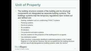 Tangible Property Regulations Webinar Part 2: Unit of Property