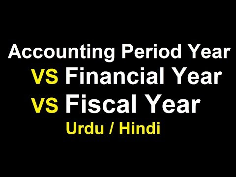 What is Financial Year & Fiscal Year ? Urdu / Hindi