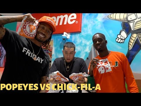 POPEYES CHICKEN SANDWHICH VS CHICK-FIL-A (WHICH IS BETTER?)