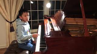 Talented 8-year Cary playing Etude op.27 no.24 by Dmitri Kabalevsky