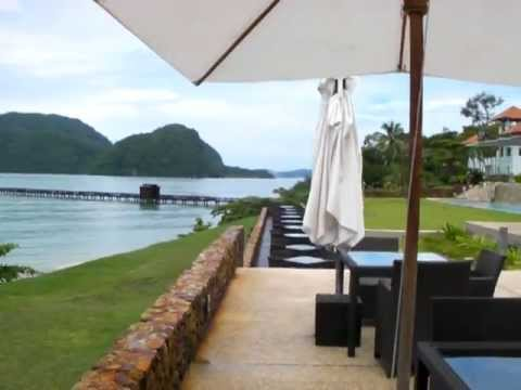 The Westin Hotel, Langkawi, Malaysia, walk from the Beach, around the Pool and Bar area in HD