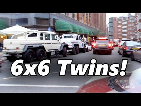 6×6 AMG G63 twins in London – Laferrari – Chrome SLR – Aventadors – Carrera GT