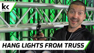 How To Hang Lights On Truss | 6 Different Lighting Clamps