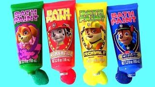 Paw Patrol Bathtub Paint Learn Colors with Lightning McQueen thumbnail